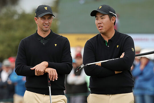 Adam Scott and Byeong Hun An