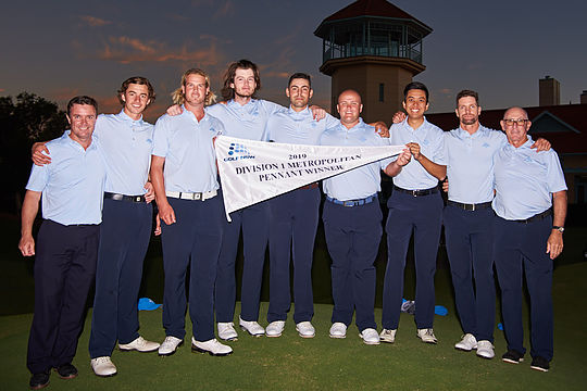 NSW Golf Club celebrate winning the Division 1 Sydney Pennants flag