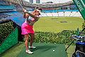 9-hole golf teeing off at ANZ Stadium in December