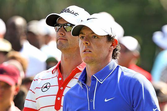Adam Scott and Rory McIlroy