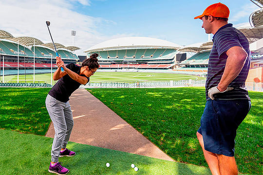 9-hole golf at Adelaide Oval