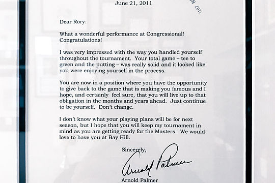 Arnold Palmer Letter