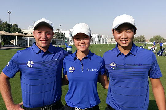 Australia's Shae Wools-Cobb, Grace Kim and Min Woo Lee