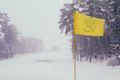 Augusta National completely covered in snow