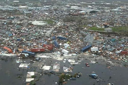 Damage from Hurricane Dorian