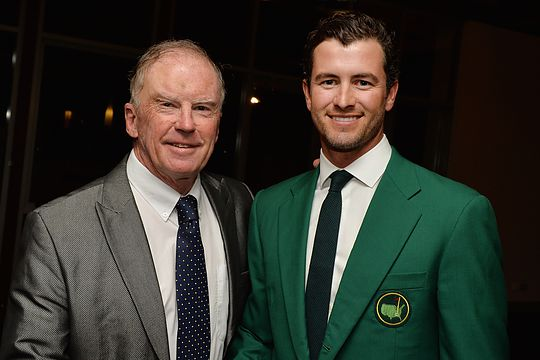 Bernie McGuire with Adam Scott