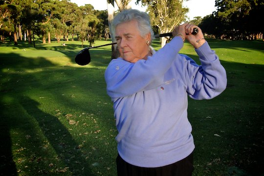 Betty Dalgleish: Still swinging strong at her home club Ryde-Parramatta