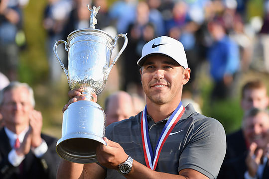 Brooks Koepka Brooks Koepka celebrates his second US Open win ... 1c1df7931