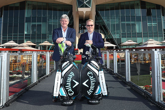 Callaway Europe president Neil Howie with European Tour CEO Keith Pelley