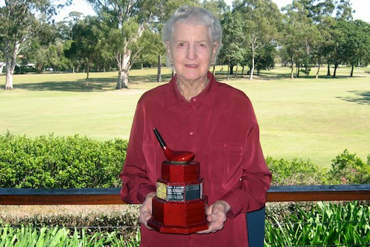 Daph Faithfull with her Redcliffe B Grade trophy