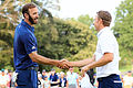 Johnson overpowers Spieth in thrilling playoff