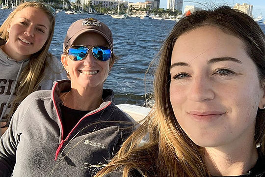 Karrie Webb with Emily Mahar and Gabi Ruffels