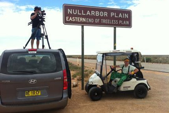 Grant Denyer on the Nullarbor Plain