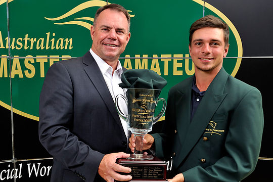 PGA Australia CEO Gavin Kirkman with Australian Master of the Amateurs Champion David Micheluzzi