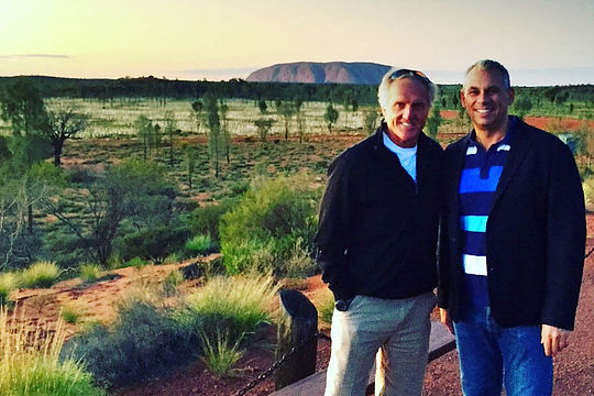 Greg Norman with NT Chief Minister Adam Giles