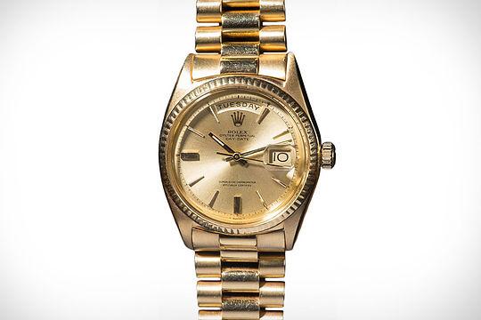 Jack Nicklaus' gold Rolex watch