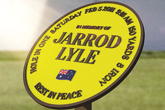 Jarrod Lyle Hole-In-One Monument