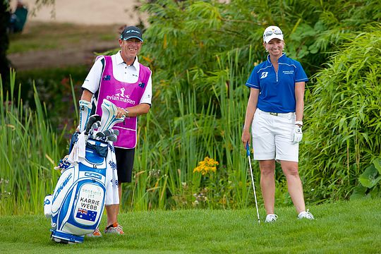Karrie Webb and long-time caddy Mike Patterson