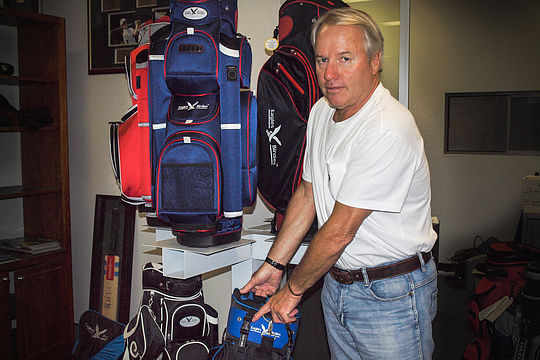 Under Par's Brett Clarebrough shows off the KLIC-LOC system