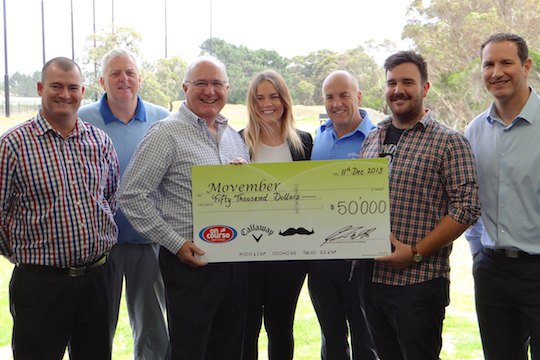 On Course, Callaway raise $50,000 for Movember