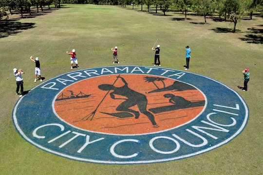 Junior golfers get into the swing for the Parramatta City Junior Golf Pro-Am