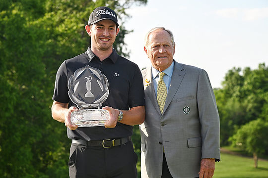 Patrick Cantlay with Jack Nicklaus