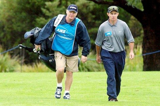 Paul Vautin walks with Paul Gow