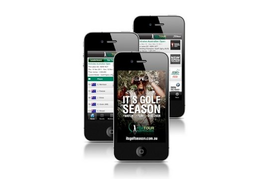 PGA Tour of Australasia iPhone app