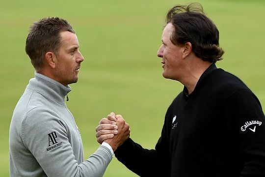 Henrik Stenson and Phil Mickelson