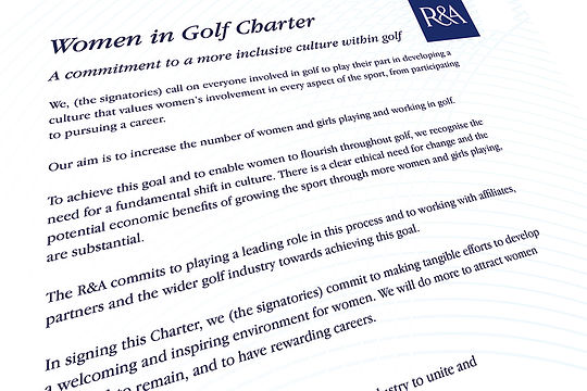 R&A Women In Golf Charter