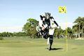 Rickie Fowler plays Motocross golf