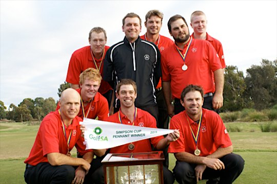 Tea Tree Gully all smiles after 2011 Pennants win (Credit: Golf SA)
