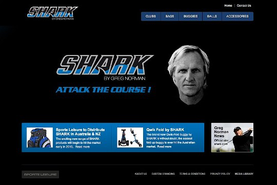 Shark Golf website goes live