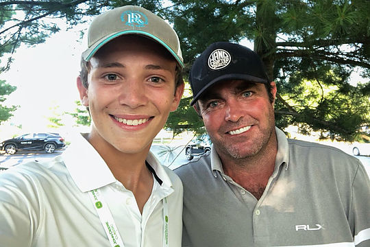 Elias Francque with Steven Bowditch