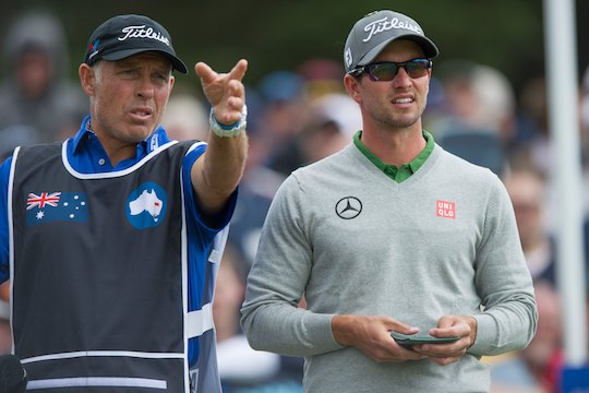 Steve Williams with Adam Scott