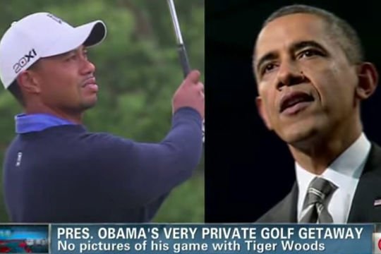 Obama's A$4.8m golf day with Tiger Woods