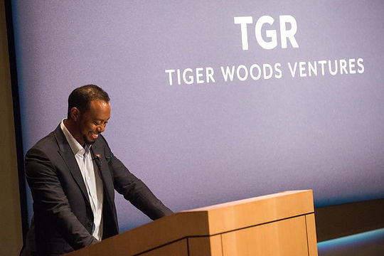 Tiger Woods at his TGR launch