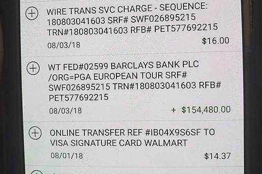 Wrong Bank Account