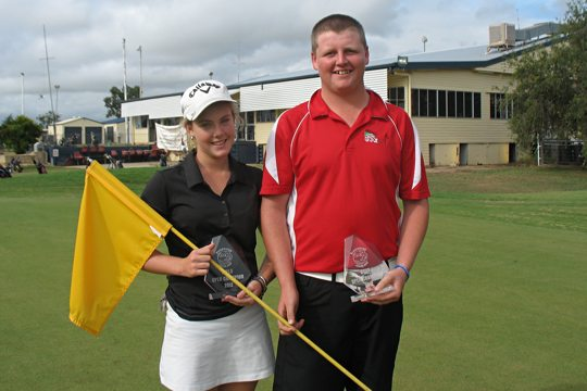 Tory Edmistone and Raymond Foster after their wins in the recent Blackwater Junior Open