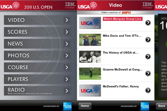 2011 US Open iPhone App