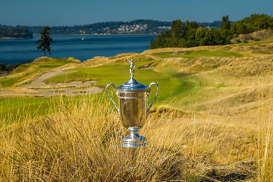 US Open Trophy at Chambers Bay