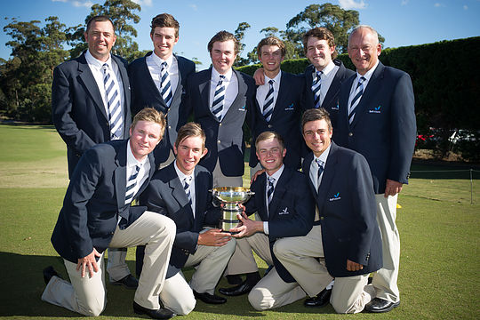 The Victorian Men's Interstate Team, winners of the Australian Interstate Team Matches (Photo: Anthony Powter)