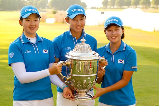 2012 World Amateur Teams Winner - Korea