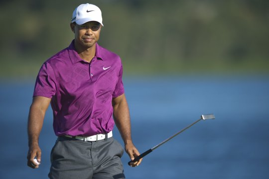 Tiger Woods is in a tie for 9th position after the opening round of the Australian Open in Sydney. Photo: Anthony Powter