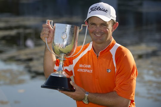 Greg Chalmers won the Australian PGA Championship after a three-way play off with Robert Allenby and Marcus Fraser (Photo: Anthony Powter)