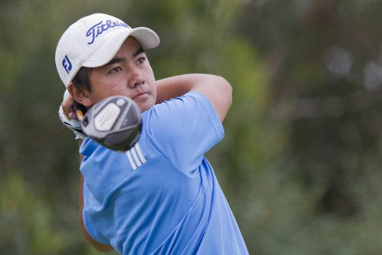 Sondjaja Ruben accounted for Nathan Holman in the morning second round and has progressed to the quarter-finals at the Australian Amateur Championship in Melbourne (Photo: Anthony Powter)