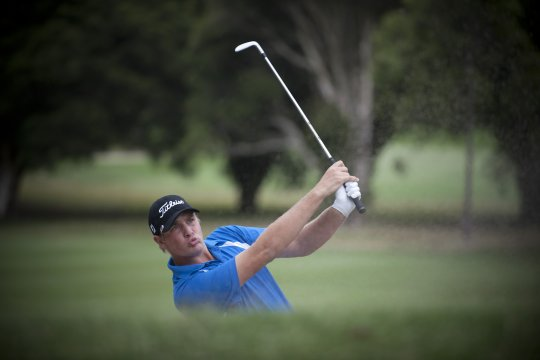 Jake Higginbottom takes a five stroke lead into the tird round of The Riversdale Cup in Melbourne (Photo: Anthony Powter)