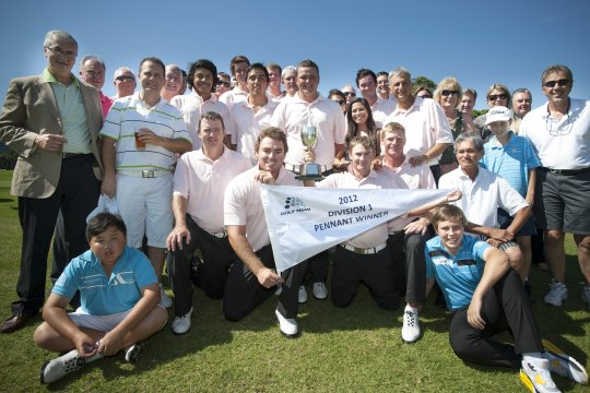 St Michael's Golf Club, winners of the 2012 Division 1 Sydney Major Pennant (Photo: Anthony Powter)