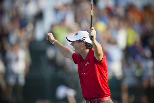 Rory McIIroy celebrates winning the  2012 US PGA Championship (Photo: Anthony Powter)