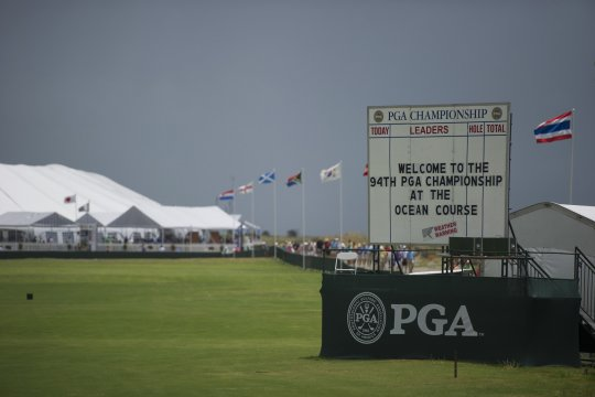 Thunder storms played havoc during Tuesday's practice session at the PGA Championship with weather warnings common. (Photo: Anthony Powter)